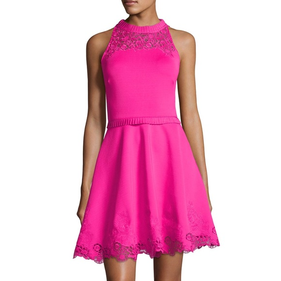 Ted Baker NWT - Zaffron Embroidered Skater Dress cc198da5a